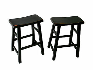 Image Is Loading EHemco 24 034 Saddle Seat Bar Counter Stools