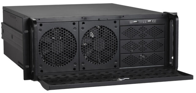 """4U (9x5.25"""") or (8xHDDs+3x5.25"""" Bay) Rackmount Chassis (Heavy-Duty EATX Case NEW"""