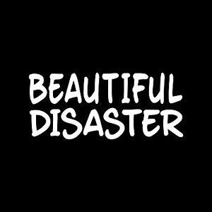 BEAUTIFUL-DISASTER-Sticker-Vinyl-Decal-Laptop-Cute-Sexy-Girl-Chick-Window-Car