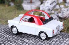 Saller-modelos 1/87: a8729 Autobianchi Blanquita, 22 PS (año 1957-69), blanco/rojo