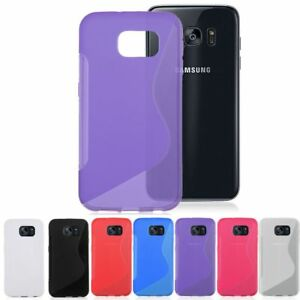 S-Line-Gel-TPU-Silicone-Back-Case-Skin-Cover-For-Samsung-Galaxy-Mobile-Phones