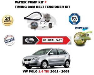 VW-Polo-1-4-Tdi-9N-2001-2009-Gates-Tendeur-Courroie-Distribution-Kit-Eau-Pompe