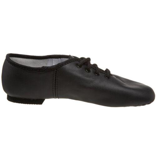 CC JAZZ DANCE SHOES Black unisex Leather split suede sole pumps irish hard jig