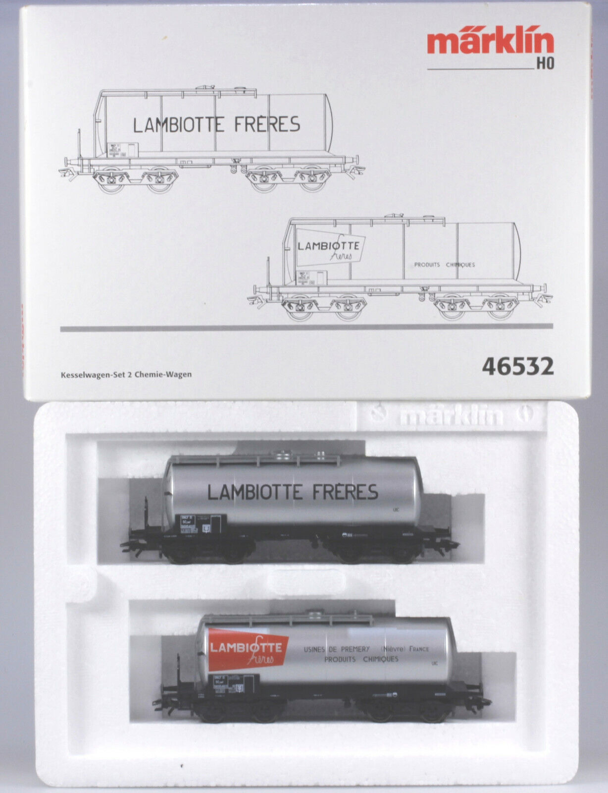 marklin HO  46532 SNCF Private Tank auto Set of two 4 Axle auto, NBX, 2001 only
