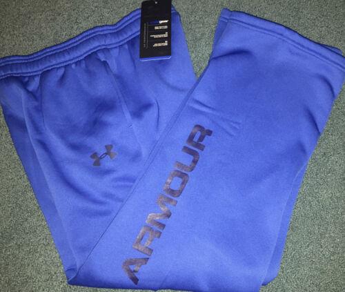 NWT Under Armour Boys XL Blue//Navy Blue Armour Fleece Cold Gear Sweat Pants YXL