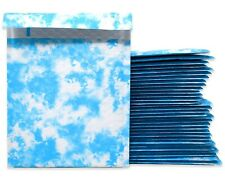 6x10 Dream Cloud Poly Bubble Mailers Padded Shipping Envelopes Blue White Fun