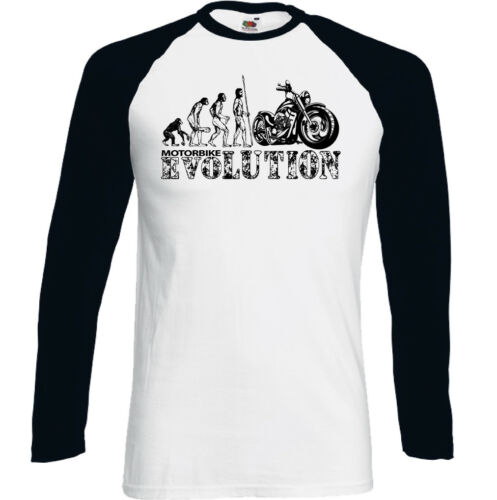 Motorbike Evolution Mens Funny Biker T-Shirt Motorcycle Indian Bike