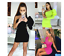 NEW XMAS CLUB GREEN PINK BLACK PUFF SLEEVE ONE SHOULDER BODYCON DRESS UK SELLER