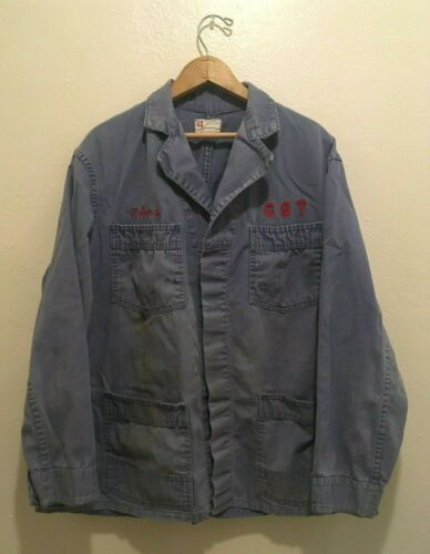Vintage 1950s 1960s Chain Stitched HBT Coverall Co
