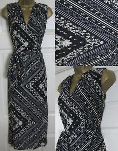 Vestido-de-verano-Nueva-Bufanda-principios-Debenhams-35-impresion-Midi-Maxi-lado-Split-8-18