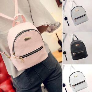 31cc9def51 Women s Backpack Travel PU Leather Handbag Satchel Rucksack Shoulder ...