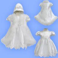 Baby Girl Infant Toddler Christening Baptism Dress White Gown Cape 0 1 2 3 4