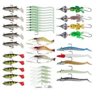 4pcs//lot Frog Soft Fishing Lure Crankbaits 9cm 6.2g Silicone Bait Hook Bass Carp