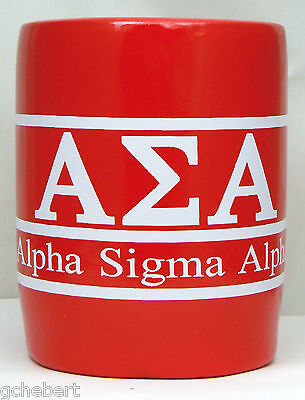 Alpha Sigma Alpha, ΑΣΑ , Greek Letter and Name Kool Kan Koozie NEW