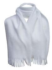INTERNATIONAL HEADWEAR Scarf Polyester Fleece Mens Soft White 158cm x 23cm