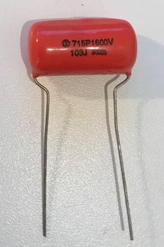 NOS CDE Orange Drop Film Capacitor 715P 0.01uF 103J 1600VDC 5/% USA 1pc