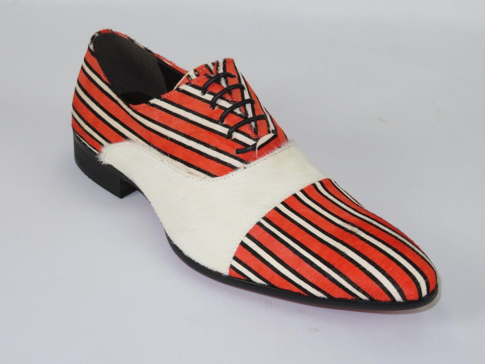 Senza tasse Mens scarpe Fiesso Fiesso Fiesso By Aurelio Garcia Pony hair Stripe European Fi7366 rosso bianca  prezzo basso