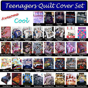 Image is loading Awesome-Cool-Teenagers-Teens-Quilt-Duvet-Doona-Cover-