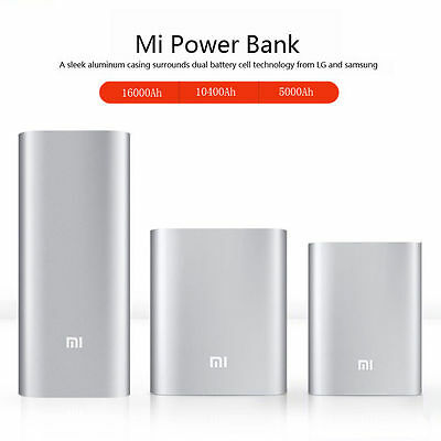 Universal License Xiaomi USB Power Bank Charger MI 10400/16000mAh For CellPhone