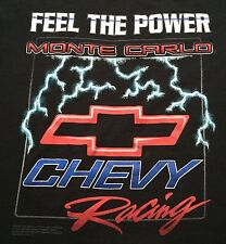 Vintage 90s Chevrolet Bow Tie T Shirt Black XXL Monte Carlo Chevy Racing Power