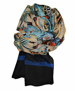 Sciarpa-di-seta-Fourlard-ROBERTO-CAVALLI-Silk-Scarf-Made-in-Italy-Donna-Woman-Co