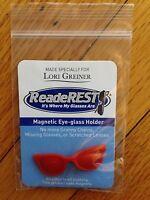 Readerest Magnetic Eyeglass Holder, Red, Nwt, Shape Of A Pair Of Eyeglasses
