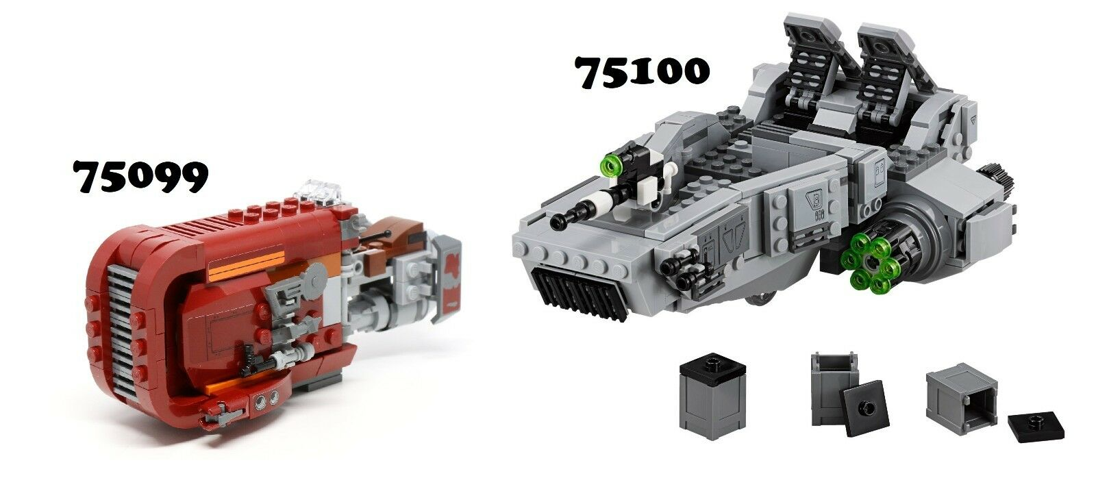 NEWLego Star Wars 75099 & 75100 Combo Sets NO MINIFIGURES