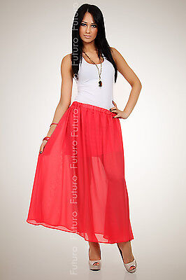 Elegant Flippy Chiffon Women's Skirt  Lining Holiday Beach Size 8-12 FA02