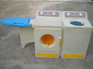 Vtg Rare Little Tikes Laundry Center Washer Dryer Amp Iron