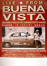 BUENA VISTA SOCIAL CLUB TOUR POSTER / KONZERTPLAKAT