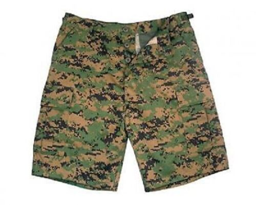 US Woodland USMC DIGITAL ARMY CAMOUFLAGE COMBAT BERMUDA SHORT SHORTS MEDIUM