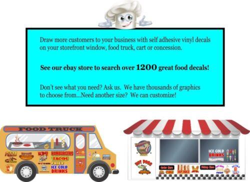 DECAL Food Truck Concession Menu Sticker Soft Pretzel Bites Choose Your Size