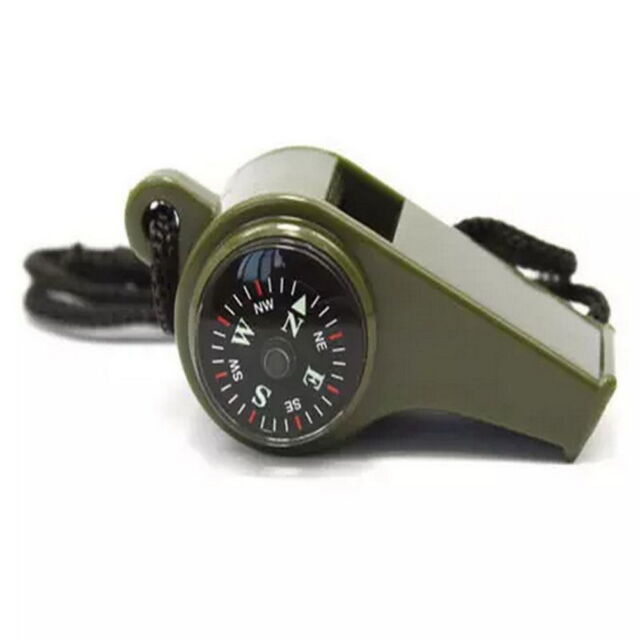 Hiking 3 in1 Outdoor Camping Emergency Survival Whistle Compass Thermometer S