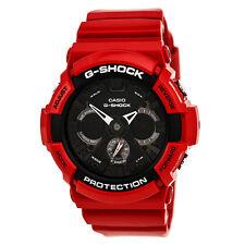 Casio G-Shock Men's Analog and Digital 200m Red Resin Black Dial Watch GA201RD-4