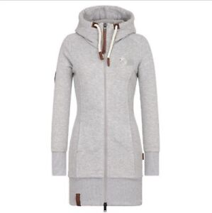 Damen-Jacke-Mantel-Winterjacke-Kapuze-Sweatjacke-Zipper-Hoodie