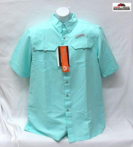 Habit Men/'s River Guide Short Sleeve Shirt ~ Medium ~ Sea Foam Green ~ New