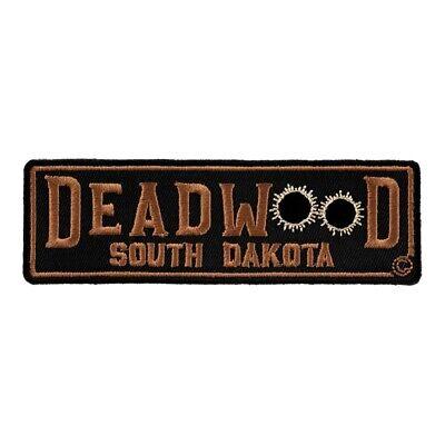 X-Small Size Deadwood South Dakota White Bullet Holes Travel Patch