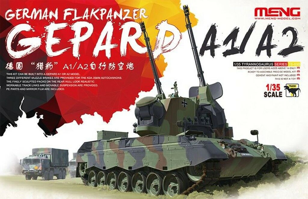 Meng 1 35 TS-030 German Flakpanzer Gepard A1 A2 model kit