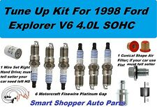 Tune Up Kit for 98 Ford Explorer V6 4L Spark Plug Wire Set, Oil Air Fuel Filter