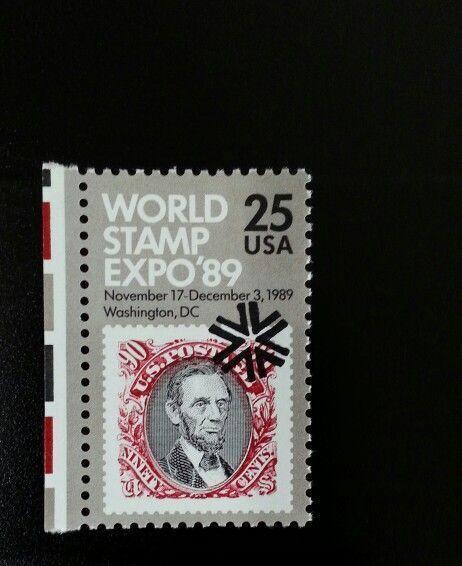 1989 25c World Stamp Expo, Washington DC Scott 2410 Min