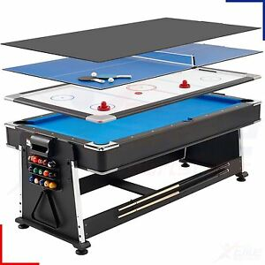 7ft-Revolver-Full-Size-3-in-1-Pool-Air-Hockey-Table-Tennis-Family-Game