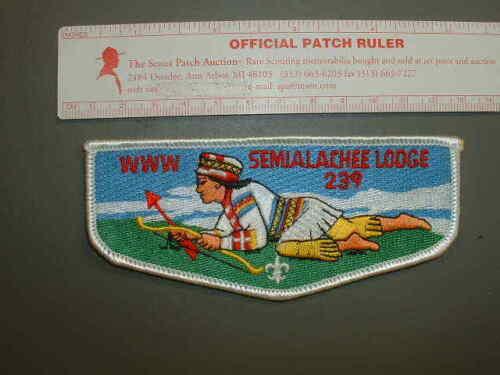 Boy Scout OA 239 Semialachee flap 8888J