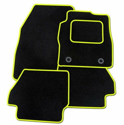 SUBARU IMPREZA 1993-2000 TAILORED BLACK CAR MATS WITH YELLOW TRIM