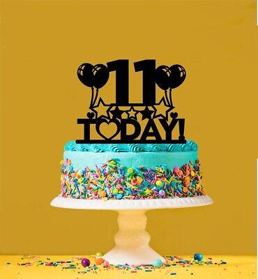 Tremendous 11Th Birthday Cake Topper 11 Years Old Eleventh Ebay Funny Birthday Cards Online Elaedamsfinfo