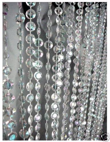 Xlong Acrylique Crystal Diamond Cut Jewel Beaded Curtain Guirlandes