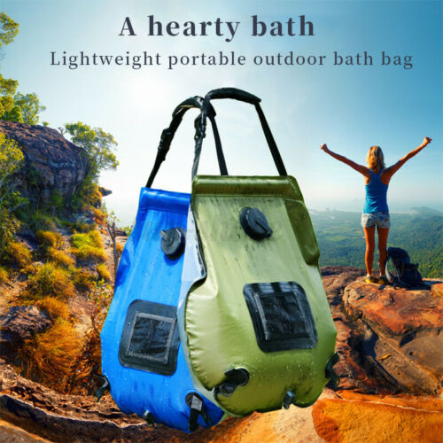 20L Large Solar Shower Bag Camping Portable Sun Heating Camp Travel Bath Outdoor