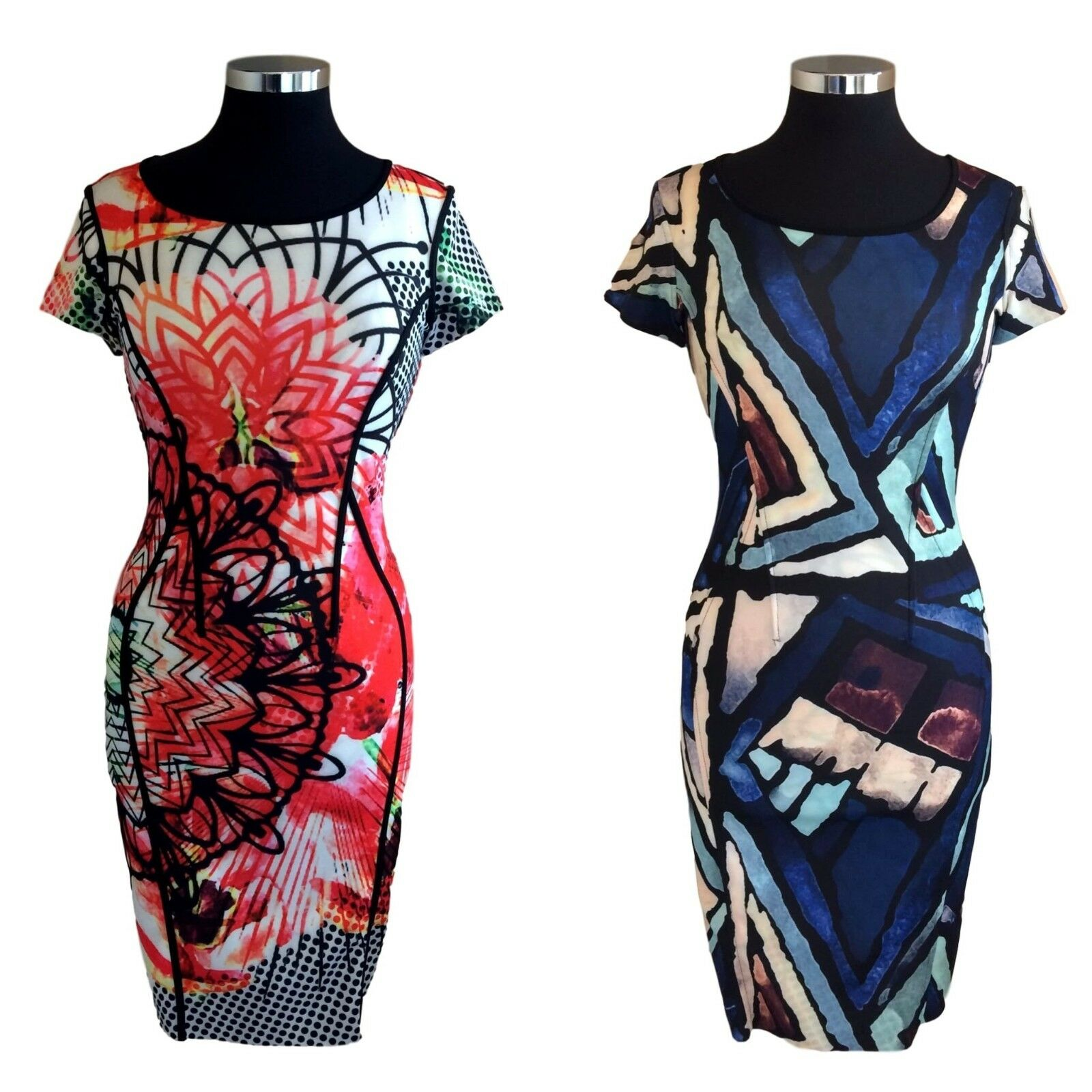 Eroke Fully Reversible Red bluee Dress. ABN80-P22.  BNWT. Sizes 10-14.