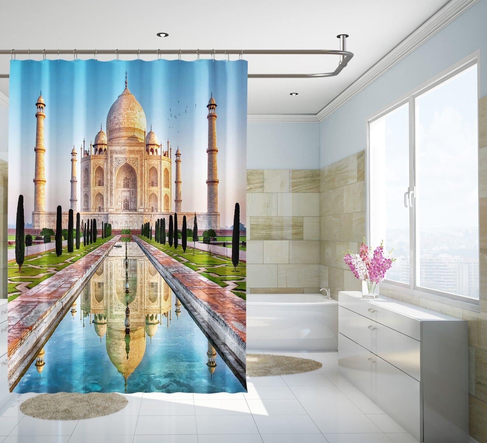 3D Taj Mahal 256 Rideau de Douche Imperméable Fibre Salle de Bain Home Windows Toilette