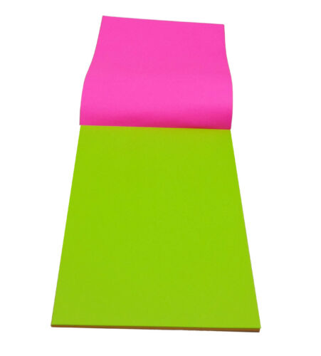 A4 Fluorescent Art Top Pad 50 Sheets 5 Colours Sheets 100 Pages