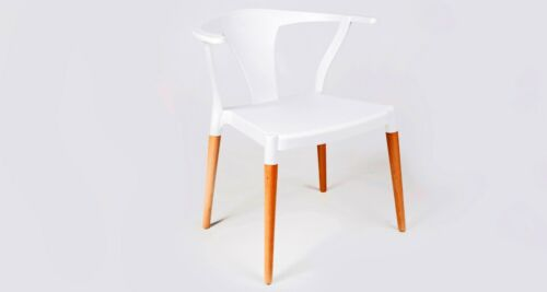 Nash Contemporary Dining Restaurant Cafe Accent Wishbone Chair White,Black